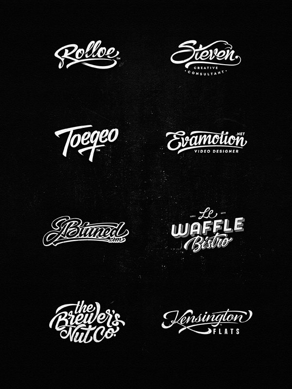 Lettering Logo Design Vol 3 On Behance