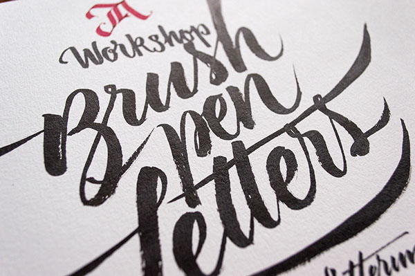 Workshop Brush Pen Letters On Typography Served