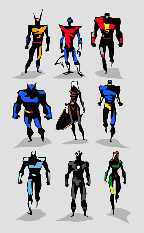 Character Design Jobs Nyc : Marvel dc motu vector sketches on character design served