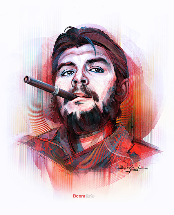 Che Guevara - A Digital Revolution - In Photoshop by Bandula Samarasekera