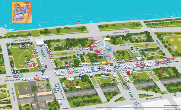 taste of chicago festival map on behance