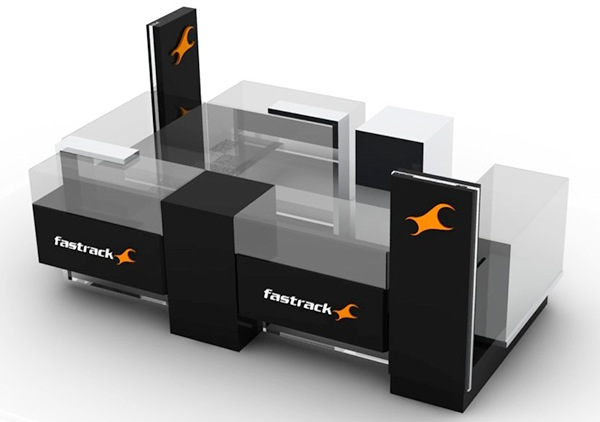 Kiosk design fastrack on behance for Architecture kiosk design