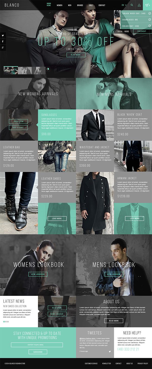 Fashion Store Ecommerce blanco