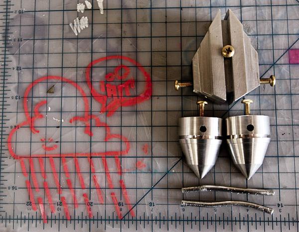 drone toy figurine aluminum