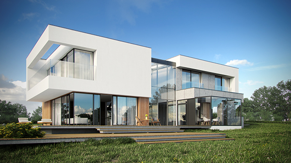 Modern single-family house on Behance