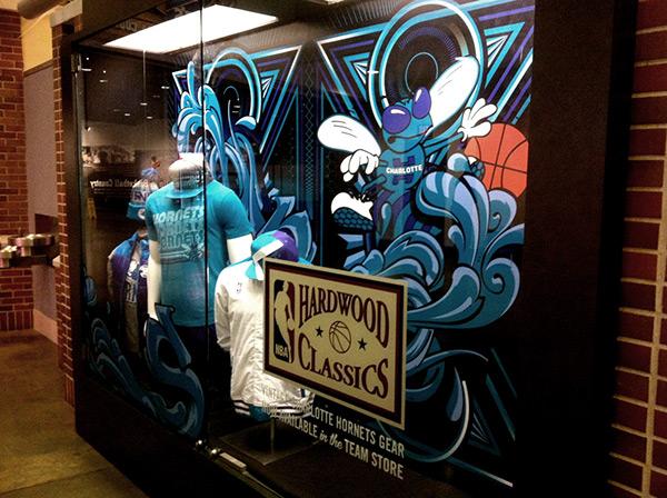 charlotte hornets window box hardwood classics 3D sports basketball Charlotte hornets NBA