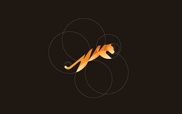 animal Rooster logo identity wolf tiger geometric gradient gorilla hummingbird tom bird cockrell minimal colour