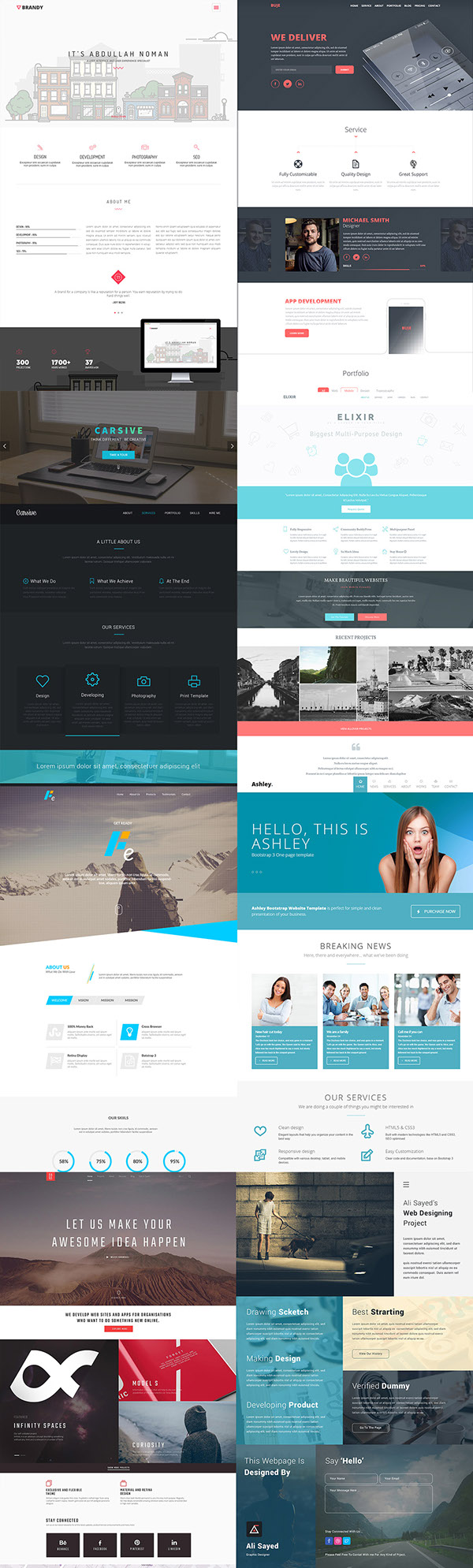 30 Amazing Free PSD Website Templates – January 2015 on Behance
