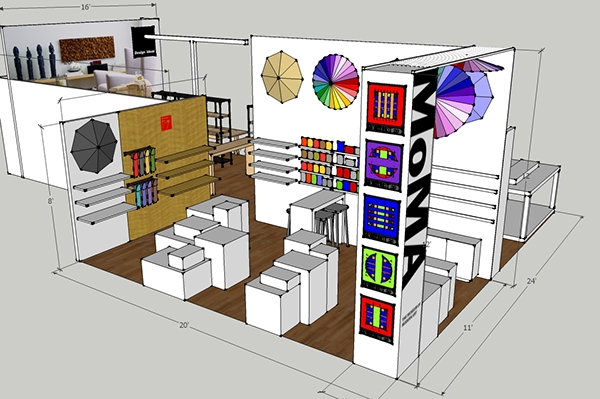 a major component of my education and experience has been interior architecture which has translated into booth design for trade shows