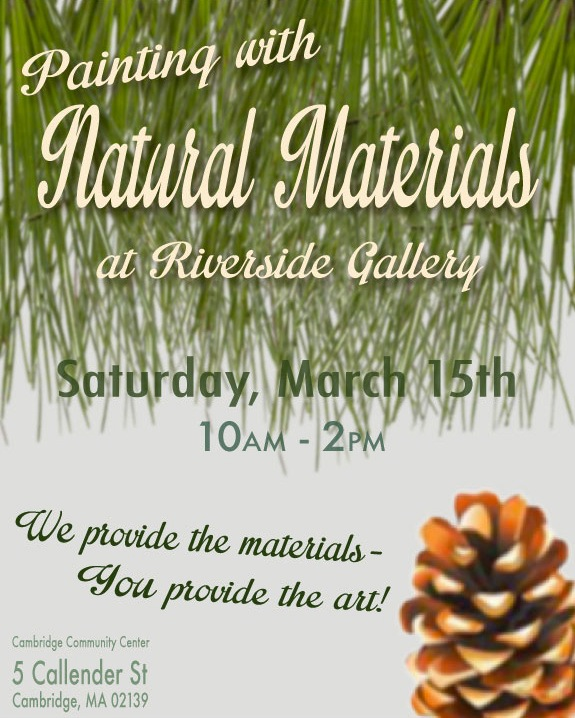 Poster for 39 painting with natural materials 39 event on behance for Painting with nature items
