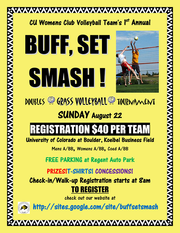 Volleyball Tournament Poster Grass Volleyball Tournament