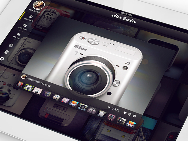 portfolio iPad Interface mobile appstore UI reflections Russia Moscow app icon highlight shadow light buttons graphicdesign
