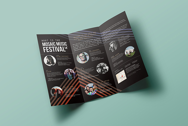 Mosaic Music Festival 14 Brochure Ticket on Student Show