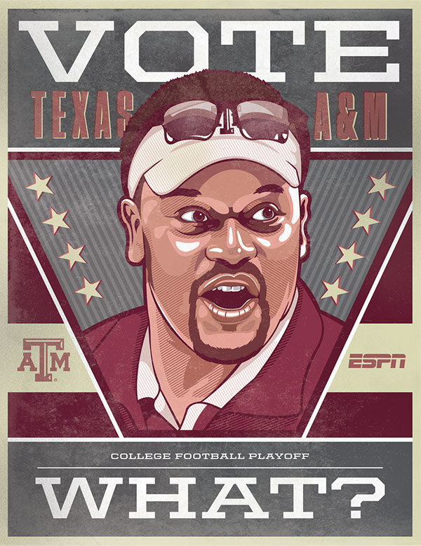 ESPN - College Football Campaign Posters by Sam Ho