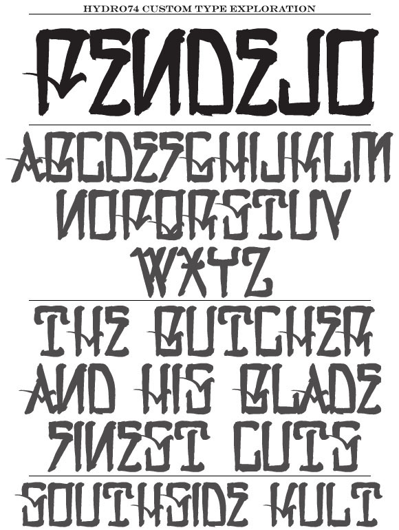 057 hydro74 new typefaces on behance
