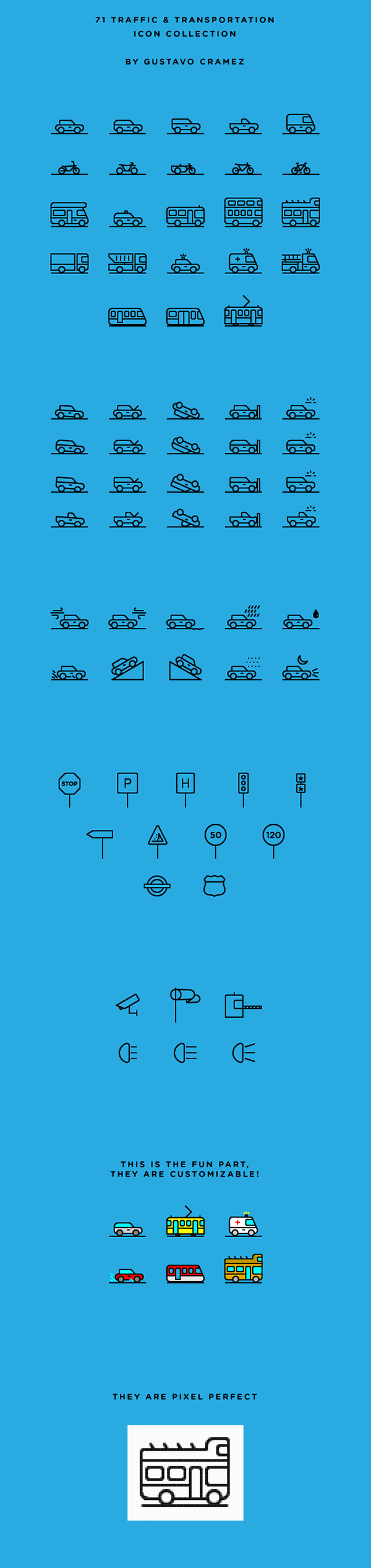 Cars,Transport,traffic,transportation,outline,iconography,bus,train,Bike,accident,ambulance,police,Travel,Conditions