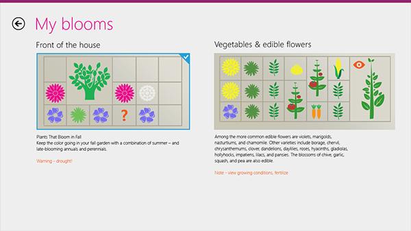 Windows 8  metro visual concept garden