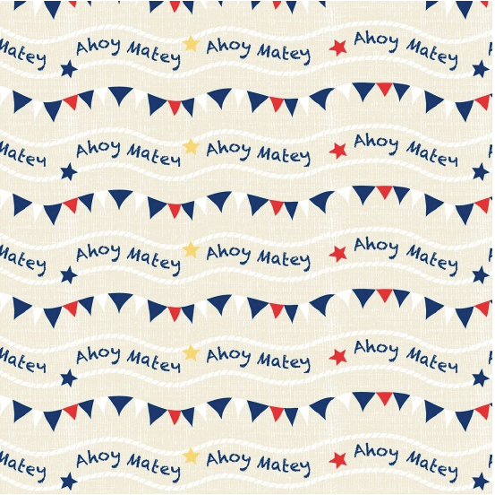 children's fabric quilting collection Nautical Designs