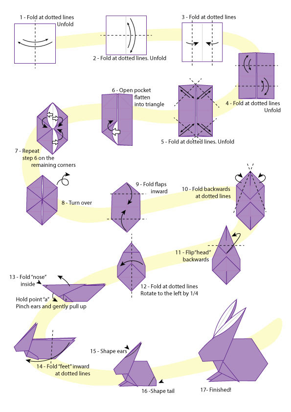 DIY ORIGAMI EASTER BUNNY BASKETS. — Gathering Beauty | 842x595
