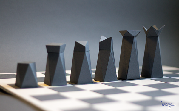 paper chess on behance. Black Bedroom Furniture Sets. Home Design Ideas