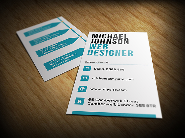 Web Designer Business Card on Behance