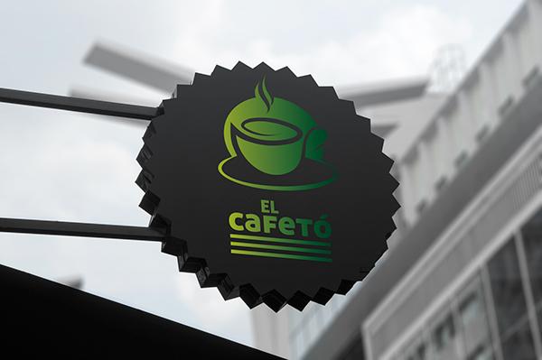 banner, rollup,cafe,restaurant,coffe shop,Coffee,logo,cup,Mug ,sign,green