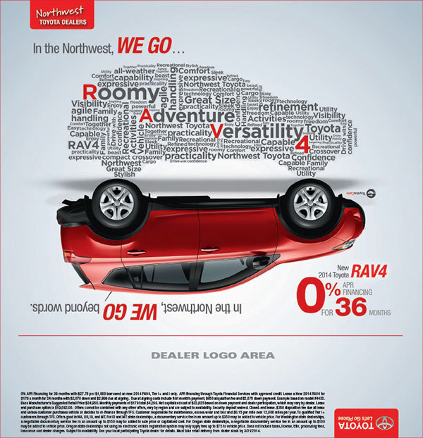 Northwest Toyota Out Of The Box Print Ads On Behance