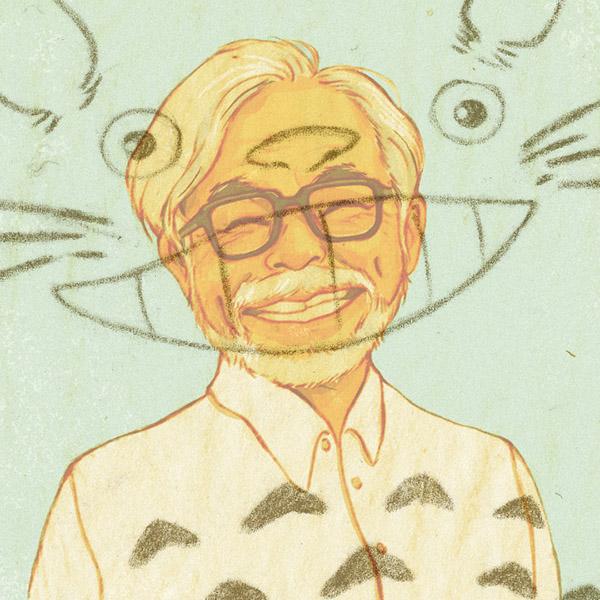 portraits,Portraiture,Yayoi Kusama,miyazaki,Audrey Hepburn,aliens,sigourney weaver