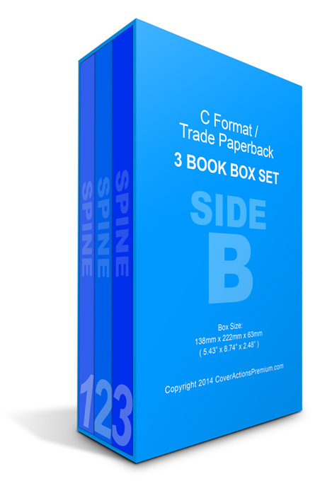 book mockup photoshop action book box set 3 Book Set 3 Book Box