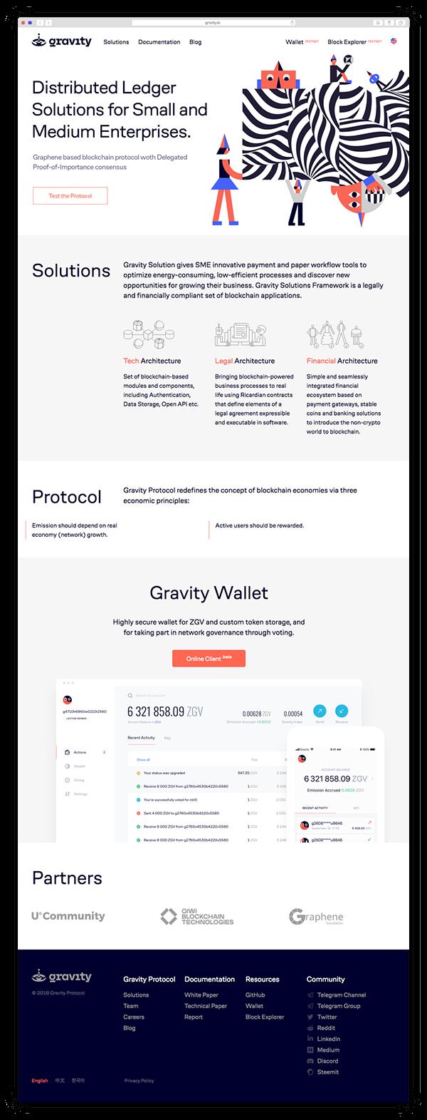 Gravity brand identity