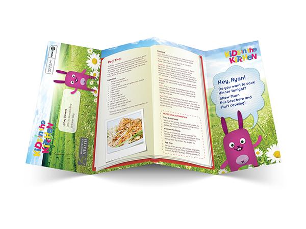 kids educational brochure recipes cooking Health recipe book