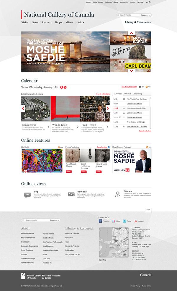 museum gallery art Web development mobile