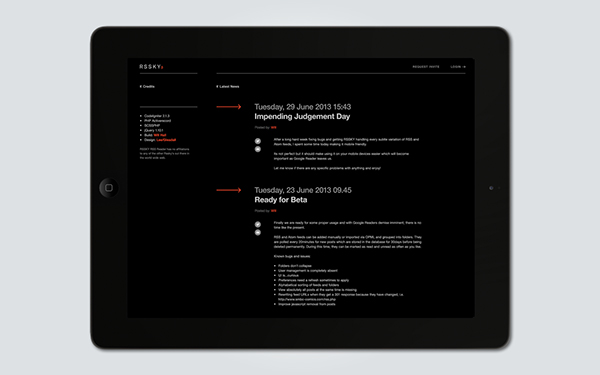 RSS rssky feed ux UI