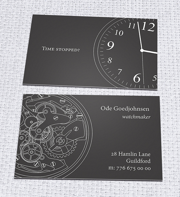 Business card watchmaker on behance reheart Choice Image