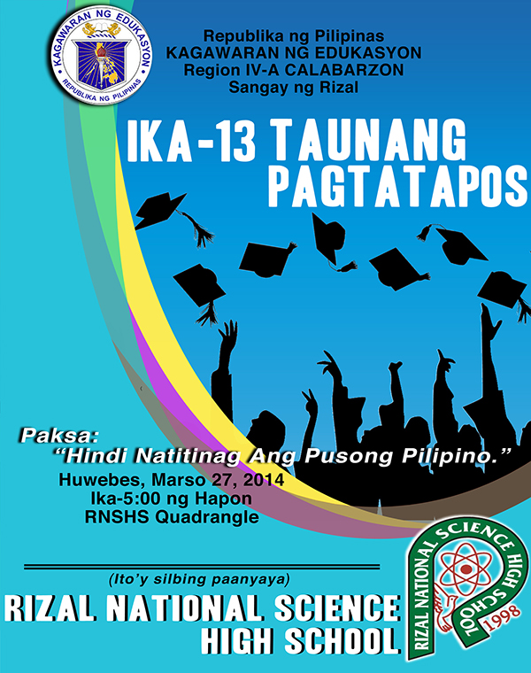 Graduation Program Cover Design   Batch  Rnshs On Behance
