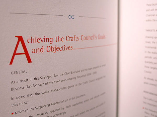 report  strategic plan Blind Emboss large photography  typography white space editorial