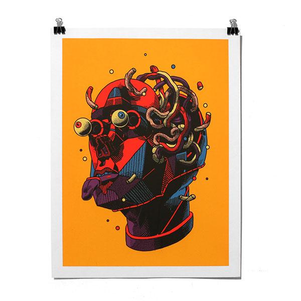 smithe silkscreen art print handmade loco del coco