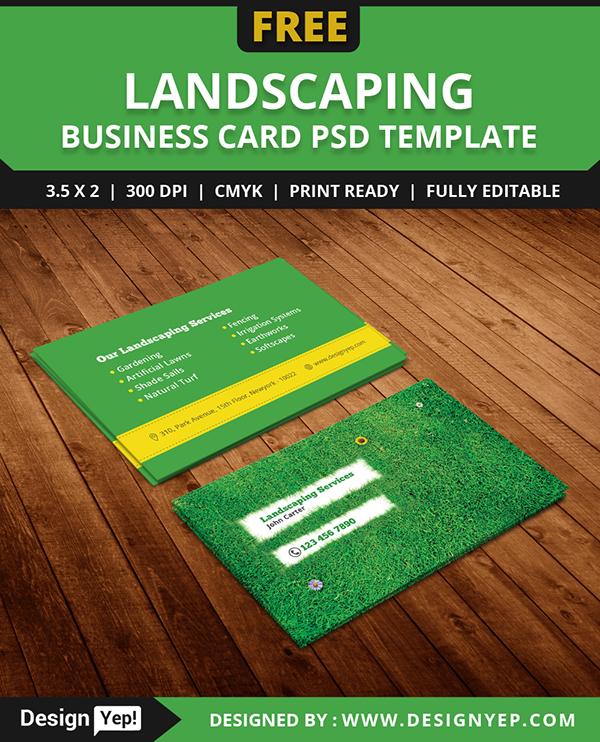 Gardening Business Cards Templates