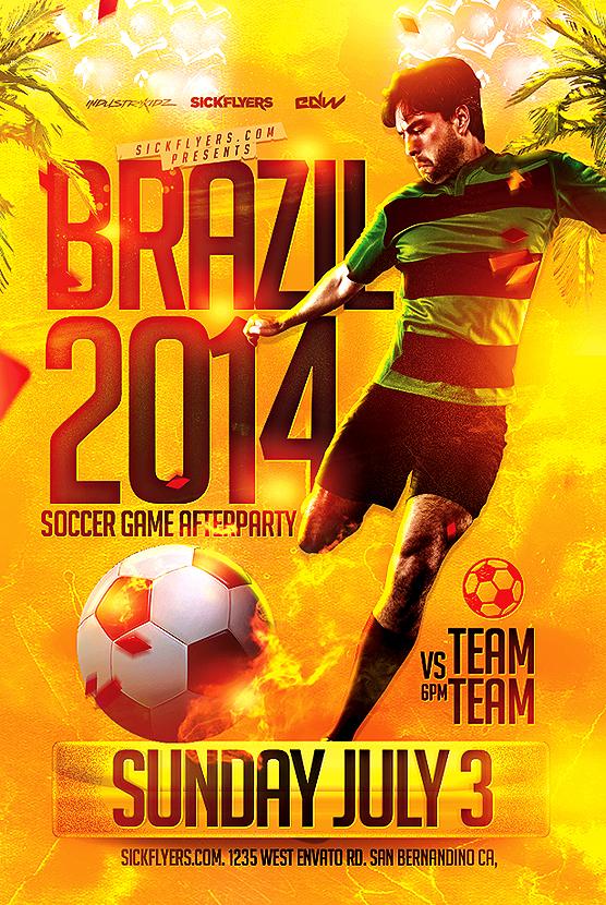 soccer world cup flyer template psd on behance