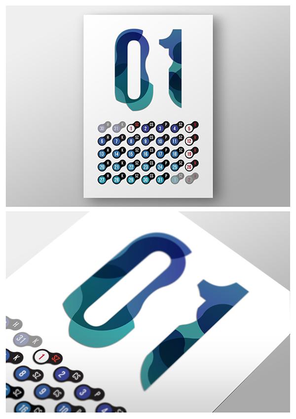 Calendar Design Behance : Calendar design on behance
