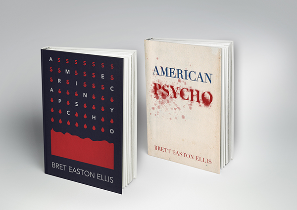 Typographic Book Cover Maker : American psycho book covers on behance