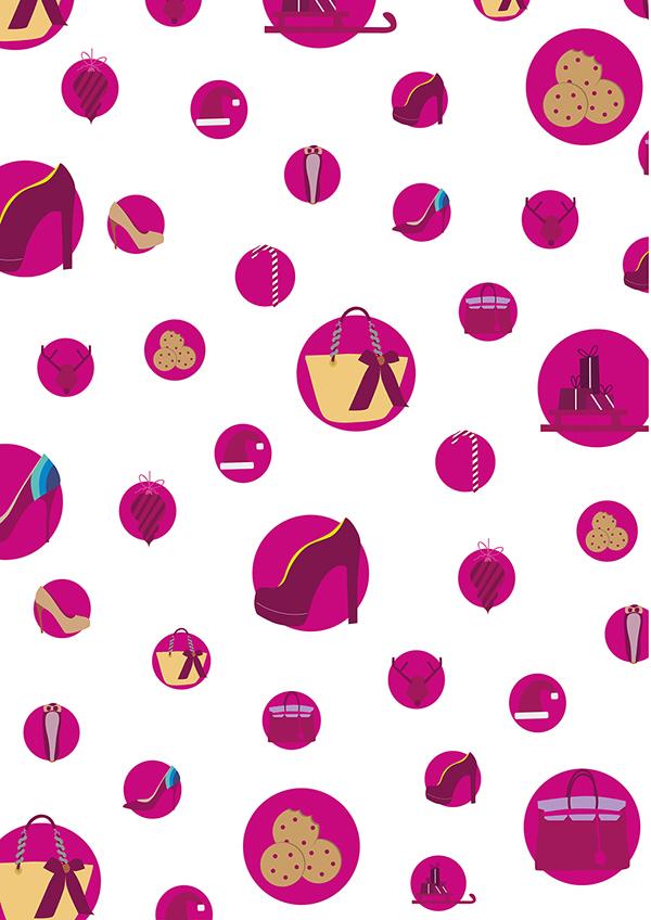 icons katrin ann orbeta VINCENZO merenda crabtoon color shop shoes bags Christmas gift paper