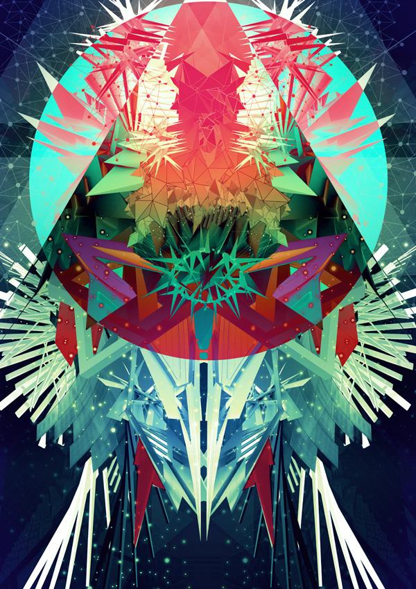 Bechira slashthree experimental artpack art type surreal photoshop