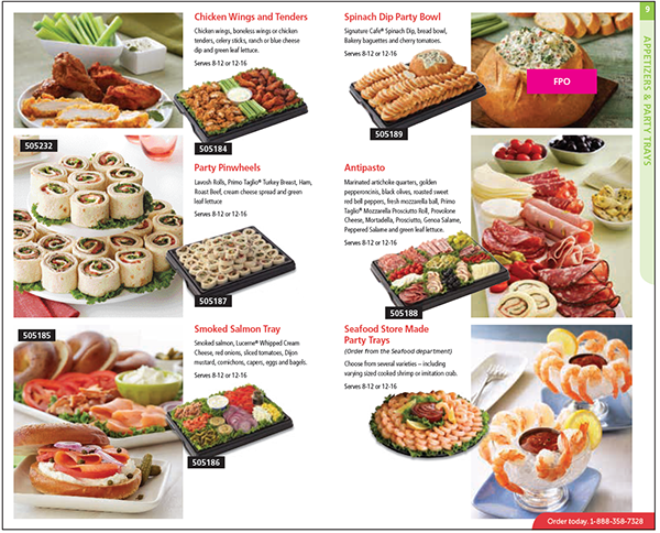 safeway catering menu Catalog on Behance