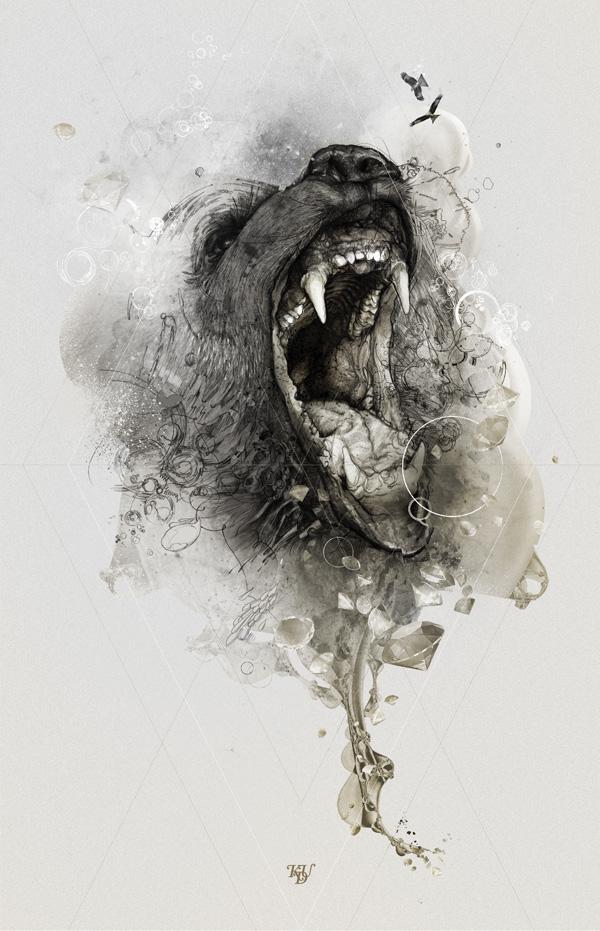 Dog Illustration inspiration by Krzysztof Domaradzki