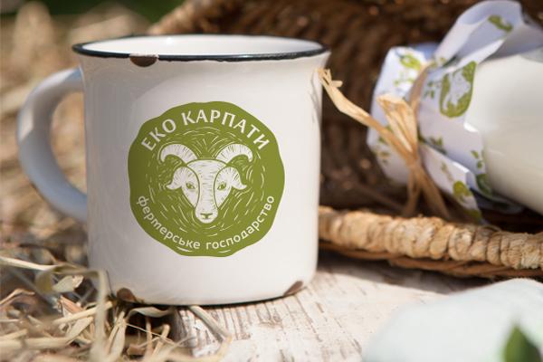 Cheese milk goat yogurt natural logo bottle Pack karpaty Carpathian Mountains