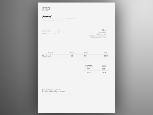 invoice template | free ai on behance, Invoice templates