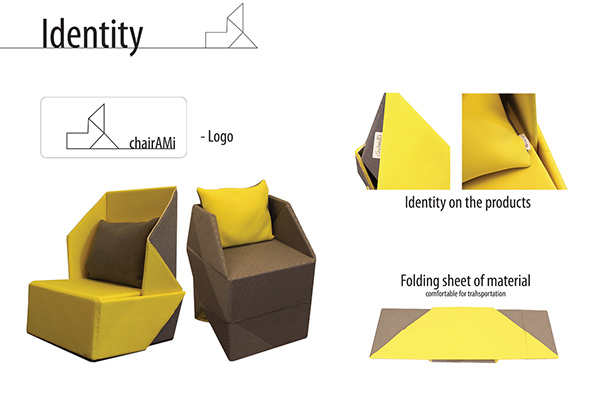 Chair Ami Origami Chair On Behance