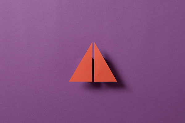 photogrphy colours  paper shadow origami