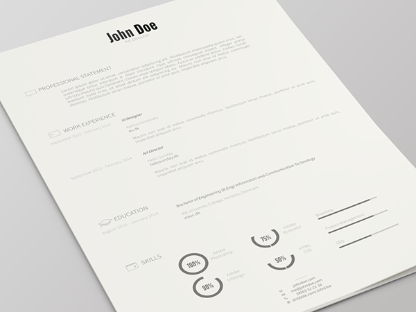 resume template psd version 2 on behance